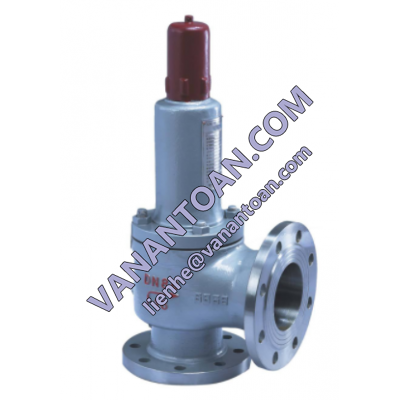 Safety valve in boiler